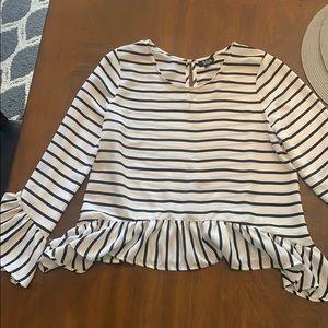 a.n.a stripe blouse
